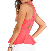 Susana Monaco Zoe Cross Back Tank in Coral