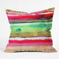 Ink Stripes Throw Pillow