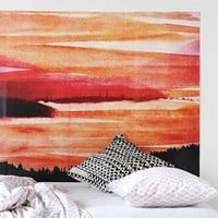 Warm Landscape Wall Mural Decal - Urban Outfitters