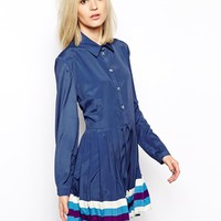 House of Holland Shirt Dress with Pleating at asos.com
