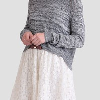 Overcast Skies Marled Sweater