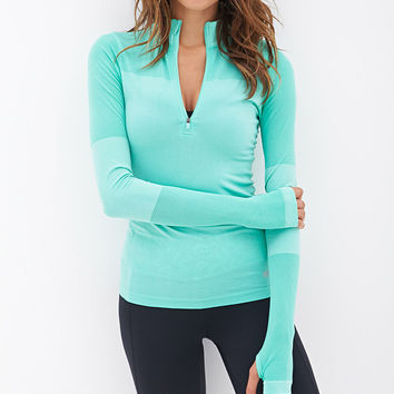 Fitted Half-Zip Pullover Jacket