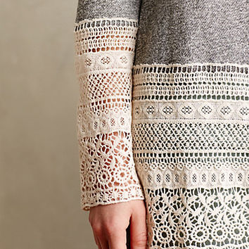 Recessed Lace Sweatshirt