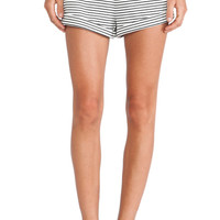Breeze Block Shorts in White & Black Stripe