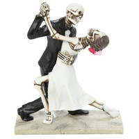 Skeleton Dancing Couple Figure