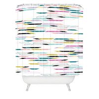 Khristian A Howell Studio 54 In White Shower Curtain