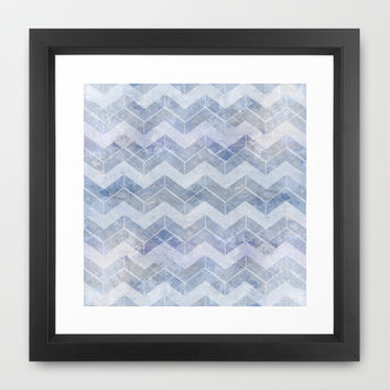 abstract pattern blue Framed Art Print by VanessaGF