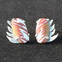 OOAK Fire Pattern Agate and Sterling Silver by LesleyPridgen