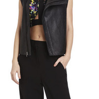 BCBG Runway Finn Leather Vest