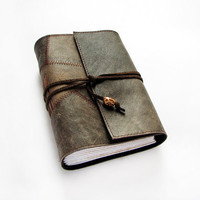 Dark Brown Quilted Leather Journal Notebook Diary by ArtStitch
