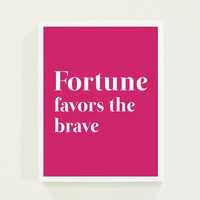 Typography Print  Hot Pink Fuschia Minimalist Wall by fieldtrip