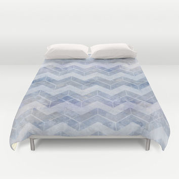 abstract pattern blue Duvet Cover by VanessaGF