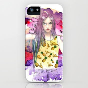 Pineanana Express iPhone & iPod Case by Sara Eshak