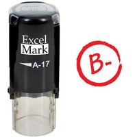 Round Teacher Stamp - GRADE B- RED INK