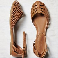 's Strappy Ankle Wrapped Flat