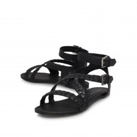 Kurt Geiger | MAGNUM Black Flat Sandals by KG Kurt Geiger