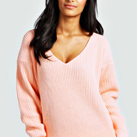 Verity V Neck Fisherman Jumper