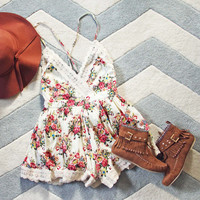 Buffalo Rose Romper in Cream