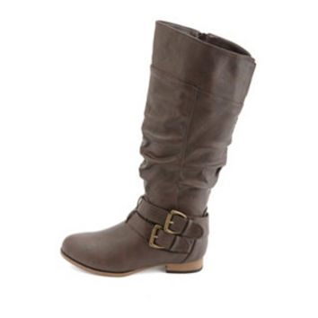 BELTED KNEE-HIGH RIDING BOOTS