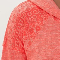 Women's French Terry Hooded Sweatshirtin Pink by Daytrip.