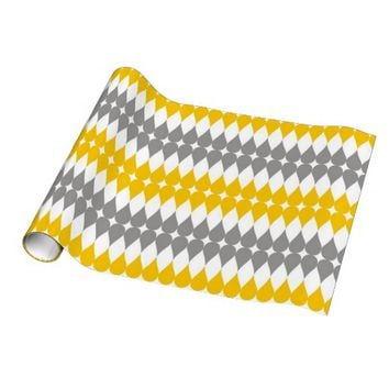 Yellow And Gray Tear Drop Pattern