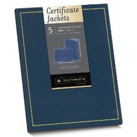 Southworth Navy Certificate Jacket, Gold Foil Enhanced, 9.5 x 12 Inches, 5 Count (PF6)