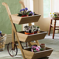 Wheeled Flower Cart Plant Display