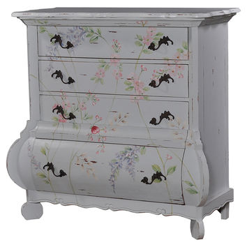 Dalury Chest, Gray/Pink, Sofa Table, Coffee Table