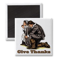 Praying Pilgrims Refrigerator Magnet from Zazzle.com