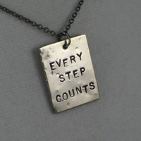 EVERY STEP COUNTS Necklace Inspirational Necklace by TheRunHome