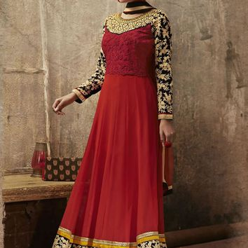 Designer Long Anarkali Dress Material