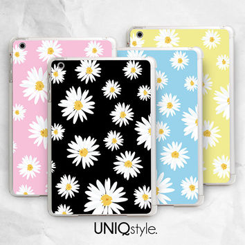 Daisy flower tablet case for iPad mini, new iPad mini 2 retina, Google nexus 7, nexus 7 2 2013 - floral pattern case - I24