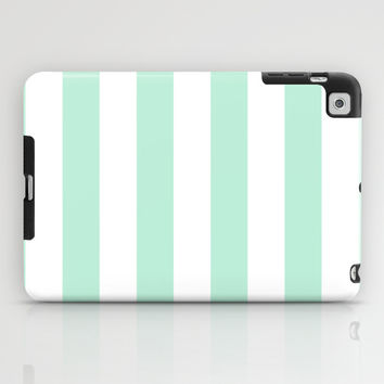 Stripe Vertical Mint Green iPad Case by BeautifulHomes | Society6
