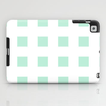 Cross Squares Mint Green iPad Case by BeautifulHomes | Society6