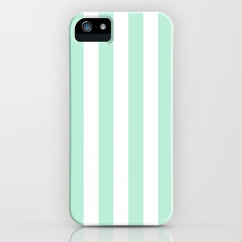 Stripe Vertical Mint Green iPhone & iPod Case by BeautifulHomes | Society6