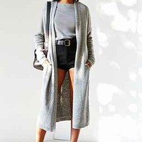 Silence + Noise Open-Front Maxi Cardigan-
