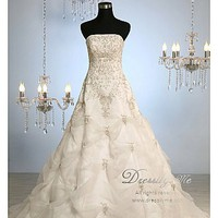 Buy discount Luxury Organza Pick-up Detail Gorgeous Wedding Gown (L# 8017) at dressilyme.com