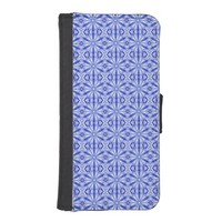 Royal Blue Fractal Pattern iPhone 5/5s Wallet Case
