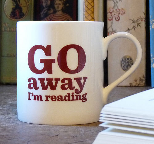 'go away' bone china mug by the literary gift company | notonthehighstreet.com