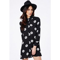 Missguided - Rosalina Daisy Print Shirt Dress