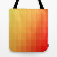 Two Tone Fire Tote Bag by Colorful Art | Society6