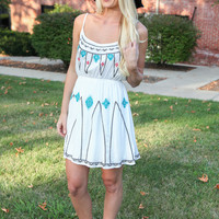 Now You See Me Boho Dress - White