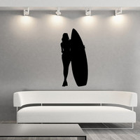Surfer Girl Style C Vinyl Wall Decal 22431
