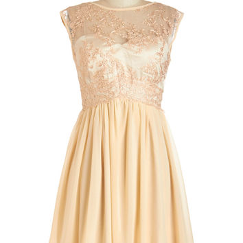 ModCloth Pastel Mid-length Sleeveless A-line Peaches and Dreamy Dress