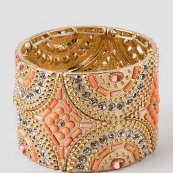 LAVACA JEWELED CUFF IN PEACH