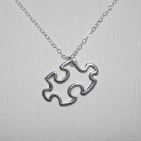 Puzzle Piece Necklace by morganprather on Etsy