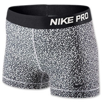Women's Nike 3 Inch Pro Core Compression Printed Shorts