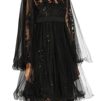 Marchesa Embellished tulle dress – 70% at THE OUTNET.COM