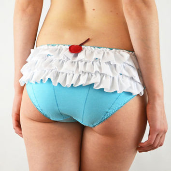 Cupcake frilly panties with cherry lingerie underwear