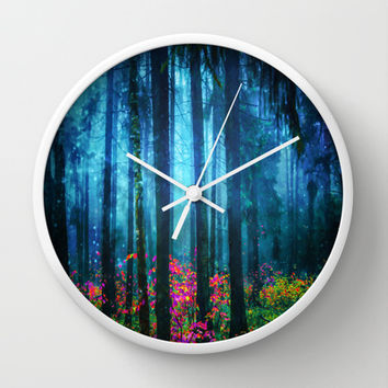 Magicwood #Night Wall Clock by Armine Nersisian
